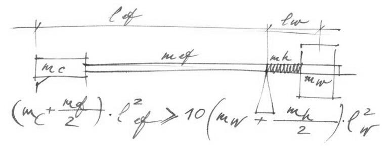 Reed tonearm formula
